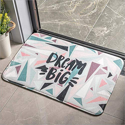 LHJY Home Geometric Doormat Non-slip Backing, Four Seasons Door Mat Indoor/Outdoor 50×80cm(Two Pieces)-Support Customization(Size:50×80cm(19.6×31.4in,Color:A17)