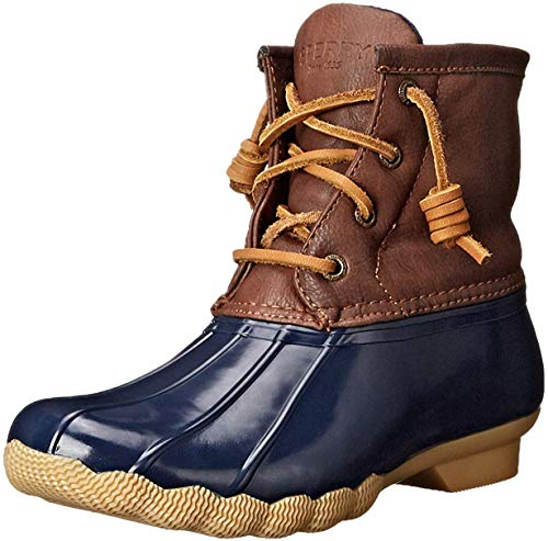 Sperry Saltwater Rain Boot (Little Kid/Big Kid), Navy, 4 M US Big Kid