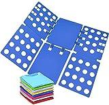 Geniusidea T Shirt Clothes Adjustable PP Plastic Folding Board Flip Folder, Blue