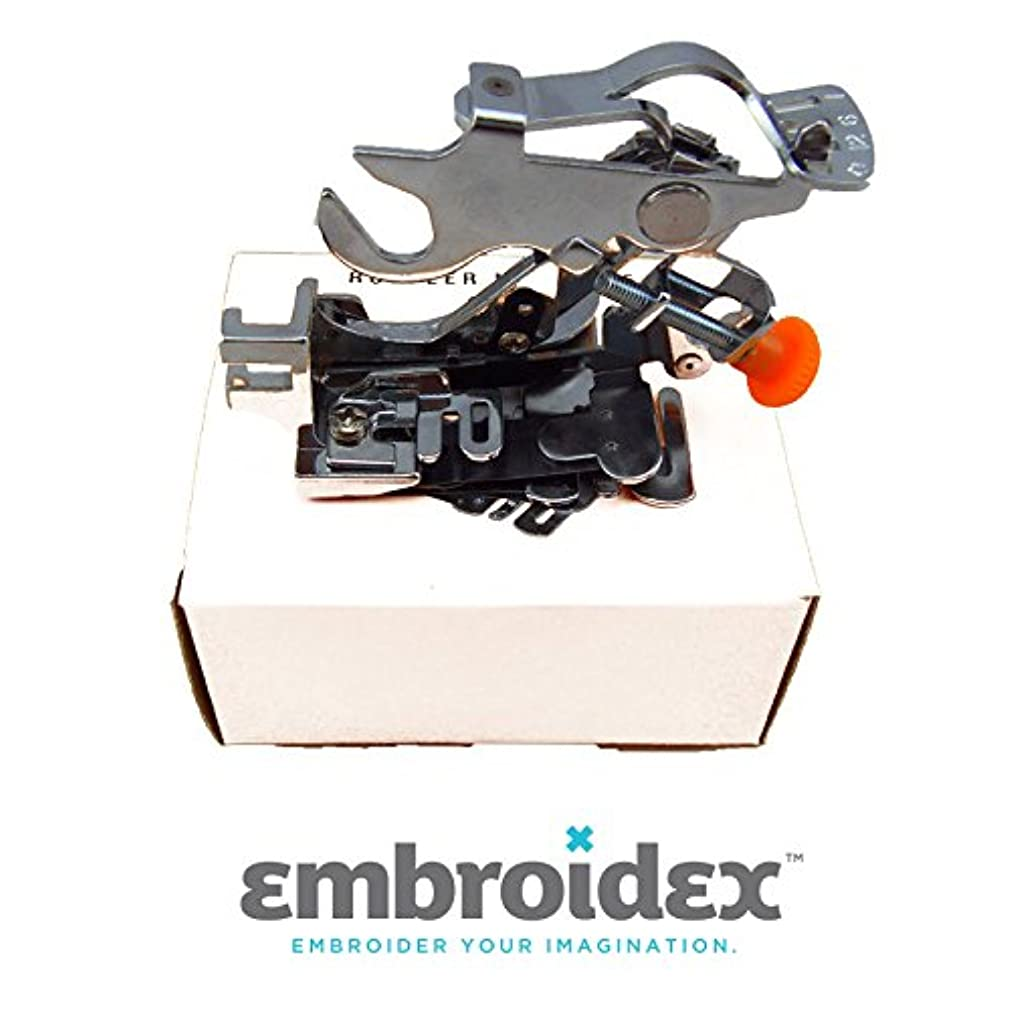 Embroidex Ruffler Sewing Machine Foot for Low Shank Brother Brother, Babylock, Singer, New Home, Janome, Kenmore, Bernina, Bernette Pfaff Husqvarna Juki feet for Gathering, Pleats and Ruffles