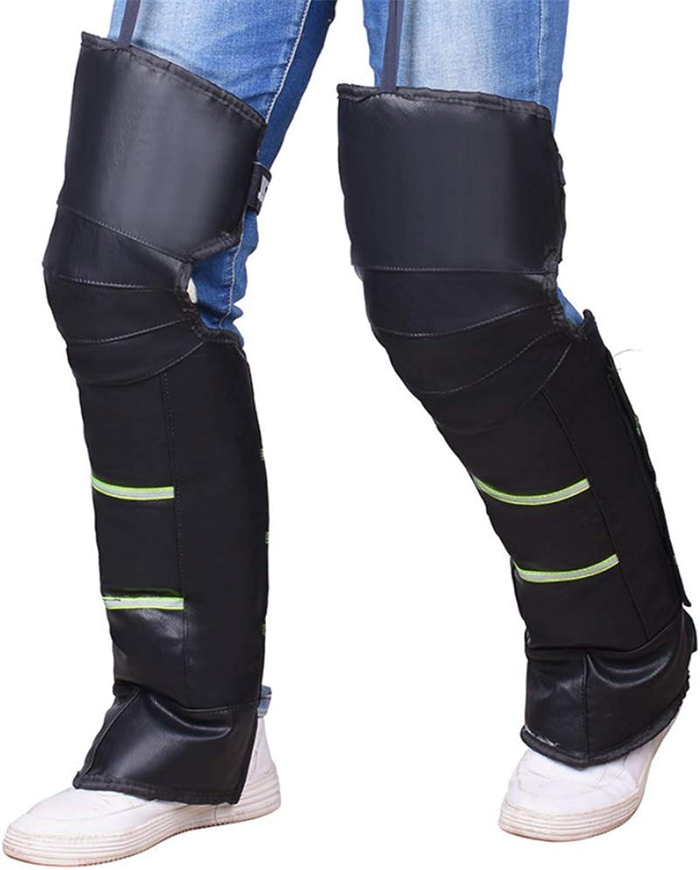 Unisex Black Leather Warm Knee Pad Leg Warmer Predector Motorcycle Knee Predector Windproof for Winter Wind Snow Motorcycle Rider