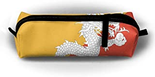sport outdoor 003 HTSS Bhutan Flag Pencil-box Pouch Pencil Holders Pencil Pen Casewith Zipper Stationery Bag Sewing Kit