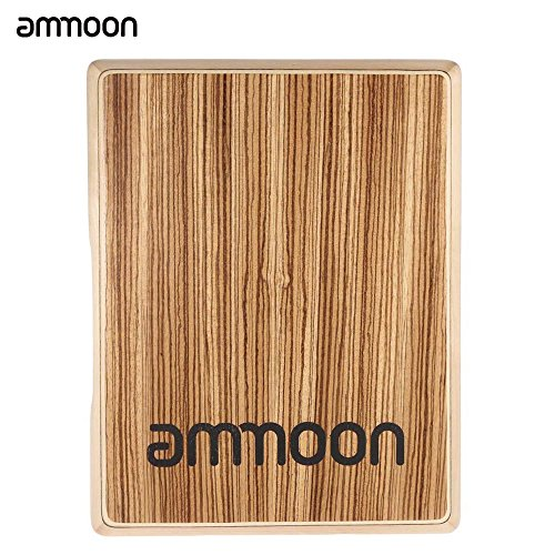 ammoonカホントラベルカホンドラム31.5*24.5*4.5cmゼブラ木パーカッション・打楽器(ウッドカラー)