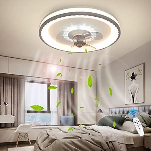 Ventiladores De Techo Iluminación Con Control Remoto LED Luz De Techo 36W Simple Y Moderna Habitación Para Niños Lámpara Colgante Regulable Ultrafinos Lámpara De Araña Para Fans Dormitorio 50Cm