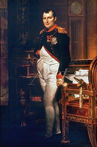Artland Alte Meister selbstklebendes Poster Jacques-Louis David Bilder Napoleon Bonaparte 1812 Wandbild Klassizismus Gemälde Kunstdruck 30 x 20 cm C2TW