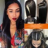 Pelucas Mujer Pelo Natural de Cabello Cortina Humano Brasileñas Pelo Afro [4'*4' Silk Top +Full Head Lace] Lace Front Wig Human Hair 100% Virgin (Densidad: 130%) - 16'/40CM