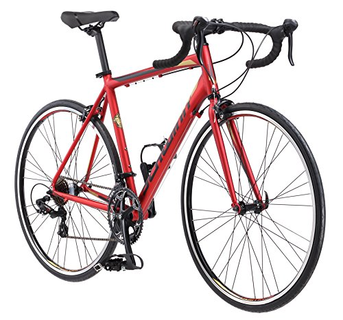 Schwinn Volare 1400 Adult Hybrid Road Bike, 28-inch wheel, aluminum frame, Red