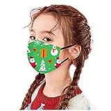 Las Rebajas 50 Unidades de Niños Bebé 0-12 Años Protección Facial con Estampado de Duende Azul Aire Libre (Xmas I*10, 3-12 años)
