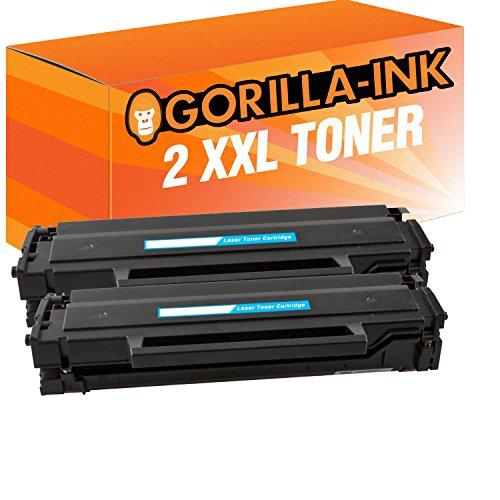 Gorilla-Ink 1 Toner XXL compatibel met Samsung MLT-D111S Xpress M2020 M2020W M2021 M2021W M2022 M2026 M2070 M2070F M2070FW M2070W M2071W M2071HW M2071FW M2078F M2078FW M2078W (2) 2x Toner Schwarz zwart