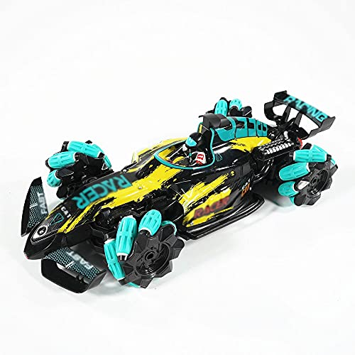QHYZRV 1: 12RC Coche De Alta Velocidad 4WD Drift Stunt Car Cool Spray Cool Music Luces LED 2.4GHz Game Regalos para Niños Y Niñas Multi-Terreno 360 ° Giratorio Hobby Toy Car