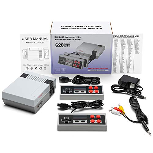 FRSH MNT Retro Game Console, AV Output Console Built-in Hundreds of Classic Video Games (1 Pc)