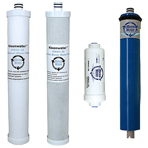 KleenWater KWAC-30,LC-50 Replacement for Culligan AC-30, LC-50 and AC-50 Filters, KleenWater Cartridge and Membrane, Set of 4