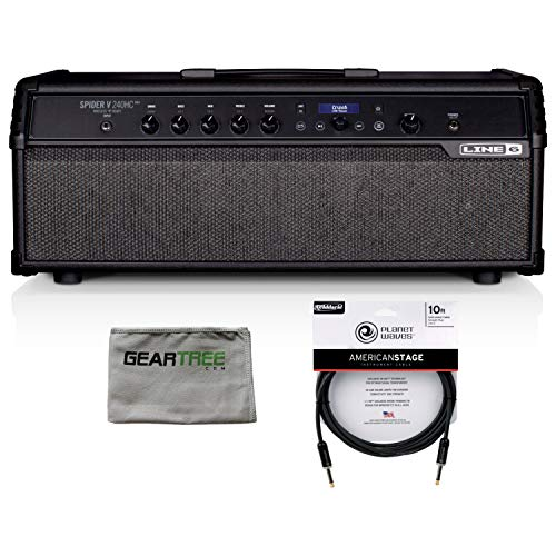 Best Price Line 6 99-020-1815 Spider V 240HC MkII Modeling Guitar Amp Head w/Premium Cable