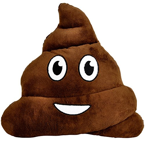12' EMOJI POOP PILLOW