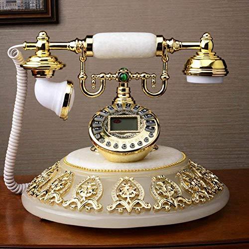DJY-JY Teléfono retro Teléfono antiguo Vintage Teléfono con cable Salón Café Decoración-A