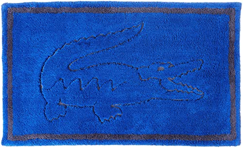 """Lacoste Legend 100% Cotton Bathroom Rug, 20"""" W x 32"""" L, Surf Blue"""