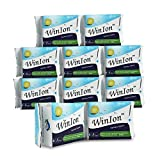 10 Packs Winalite WinIon Day Use with Wings (Total 80 Pads) Anion Strip Super Absorbent Ultra Thin Pads for Women