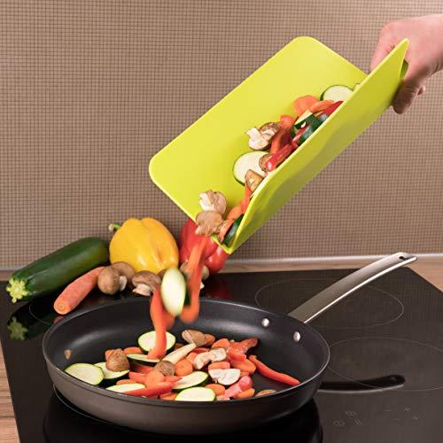 Kitchen Helpis Tabla de cortar plegable grande de 39,5 x 26 cm, tabla de cortar plegable, de plástico, tabla de cortar flexible