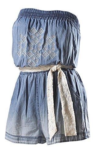 LTB Jeans Damen Cajun Jumpsuit, Blau (Skyfall Blue), 38 (Herstellergröße: M)