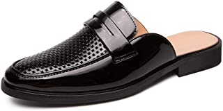 Xujw-shoes, for Men Oxford Shoes Fashion Slippers Outdoor Leisure Slipper Slip On Style PU Leather Breathable Hollow Out Vamp Buckle Decor Round Toe Cozy