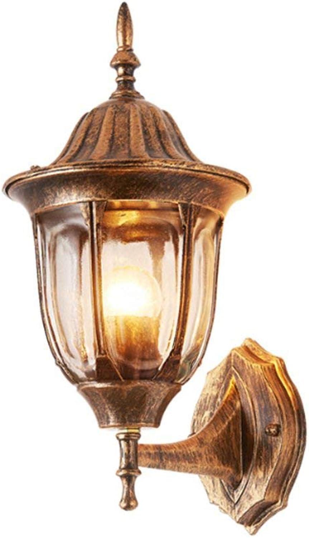 SAIYA Balcony Wandlampe europischen Wasserdichten Retro-Nachttischlfer Gang Outdoor-Wandlampe
