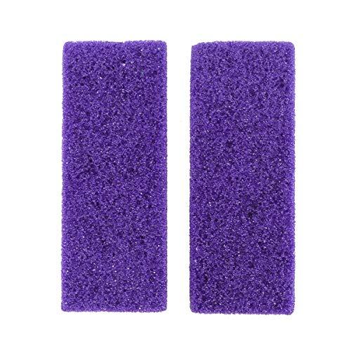 SUPVOX 2pcs pied pierre ponce bloc de soins des pieds exfoliant outil de pédicure décapant nettoyeur épurateur mort dure Remover Cleaner (Violet)