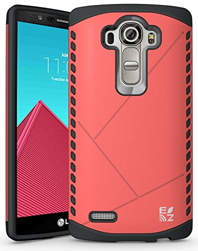 ECOZ [SHIELDX LITE] Slim Protective Dual Layer Armor Case Cover for LG G4 (Pink)