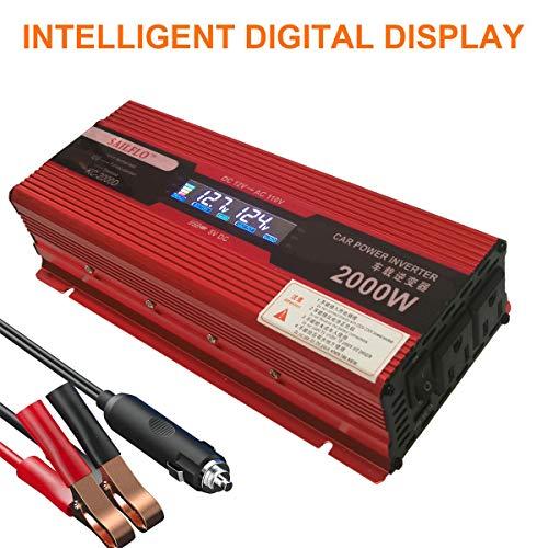 KNOSSOS 2000W Car Power Inverter with LED Display Converter 12V//24V To 220V