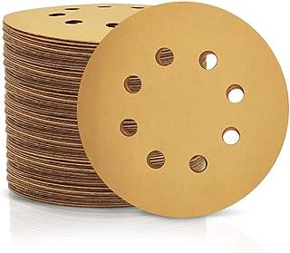SPEEDWOX Lot de 100 disques abrasifs Ø 125 mm grain 500 avec 8 Trous Ronds Crochet et boucle pour ponceuse excentrique 5inch