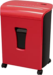 Sentinel Shredders FM102P-RED 10-Sheet High Security Micro-Cut Paper/Credit Card Shredder with 3.5 gal Pullout Waste Baske...