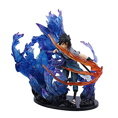 Naruto Figure Uchiha Sasuke Action Figure Anime Puppet Character PVC Toy Character Model Decoration Doll Gift Table Desk Decoration Accessories 21CM
