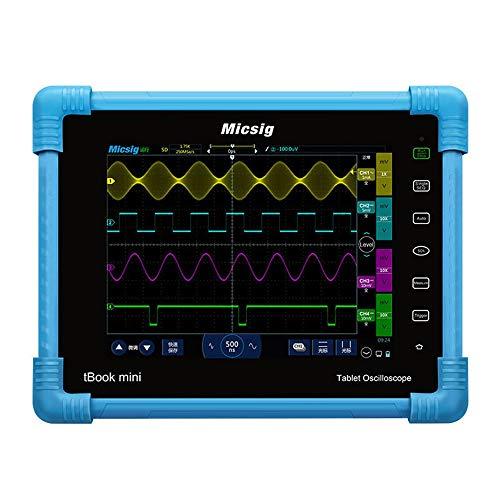NO BRAND Osciloscopio Digital Los osciloscopios Kit Automotive Tableta Digital osciloscopio 150MHz 2CH 1G Sa/s Tiempo Real Frecuencia de muestreo (Color : Azul, tamaño : Un tamaño)