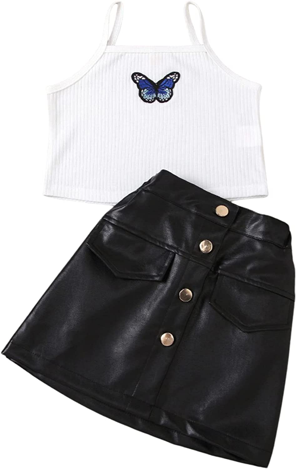 Toddler Baby Girls Free shipping anywhere in the nation Leather Skirt Shirt Outfits Sweater To Ribbed Max 63% OFF