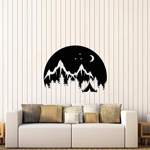 Fotobehang voor reizen, camping, landschap, berglandschap, bos, vinyl, voor slaapkamer, woonkamer