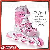 Raven Princesse Rollers réglables et modulable pour fille rose 34-37