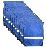 Drawstring Bag Reflective Backpack - Cinch Sacks Bulk Sport Travel Storage Tote Sack Bags