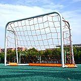 ZJM White Lacrosse Goal, Adults/Kids Outdoor Soccer Goals for Backyard, Heavy Duty Steel Framed Training Futsal Football Net