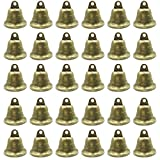 LOUHUA 30 Pieces Vintage Bronze Jingle Bells for Dog Doorbell & Potty Training, Housebreaking, Making wind chimes, Christmas bell (38mm/1.5inch)