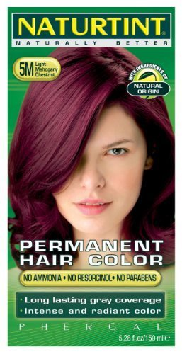 Permanent Hair Color - 5M, Light Mahogany Chestnut, 5.45 oz (Multi-Pack) by Naturtint