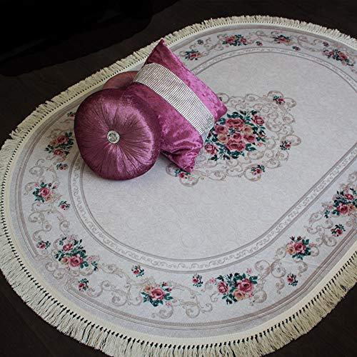 Brillant Teppich Teppich 130 x 190 cm Oval Rutschfest Pflegeleicht Top Qualität Oval Evely