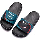 DimaiGlobal Zapatos de Playa y Piscina para Niñas Suave Bañarse Verano Chanclas para Niños Antideslizante Sandalias Zapatillas de Baño Zapatos de Ducha 32/33EU Negro
