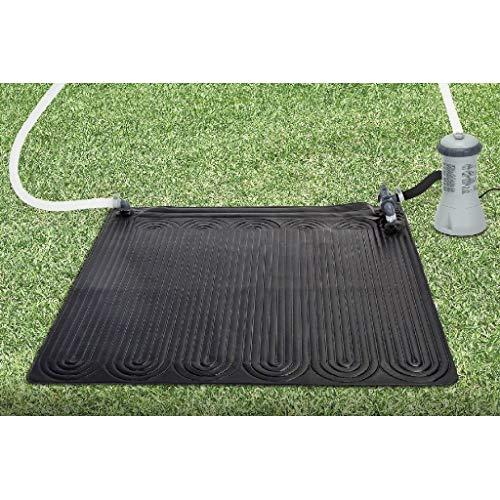 INTEX Chauffage solaire - tapis solaire pour piscine hors sol jusqu'à 30m3 - Permet d'augmenter de 3 à 5 degrés la température de l'eau
