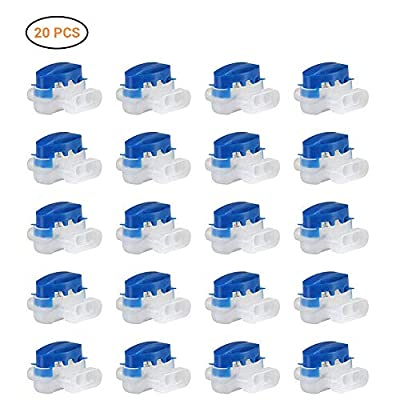 Bonwuno Cable Connectors, 20Pcs Replace Equivalent 314 Wire Connector Terminals Waterproof Wire Connector for Robotic Lawnmower Outdoor Garden
