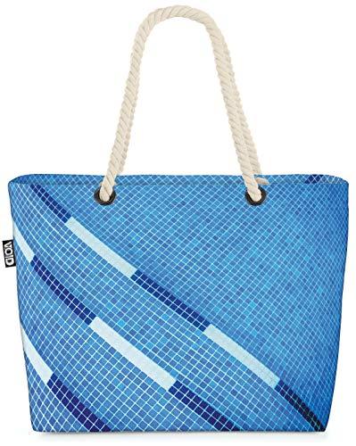 VOID Schwimmbecken Strandtasche Shopper 58x38x16cm 23L XXL Einkaufstasche Tasche Reisetasche Beach Bag