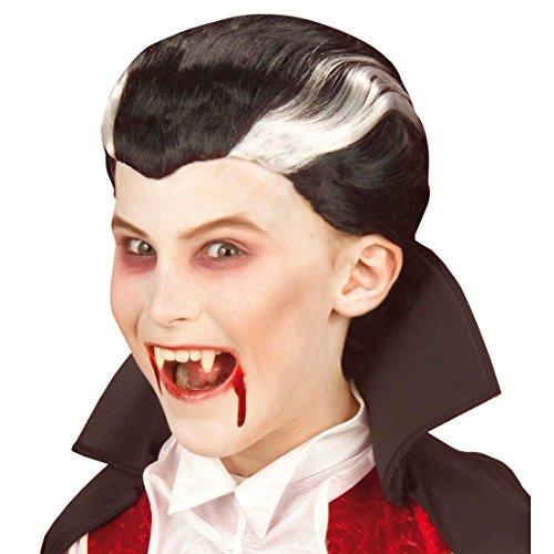 NET TOYS Kinder Perücke Dracula Halloween Vampir Perücken Vampirperücke Halloweenperücke Vampire Fasnet Fasnacht Draculaperücke Kostüm Zubehör