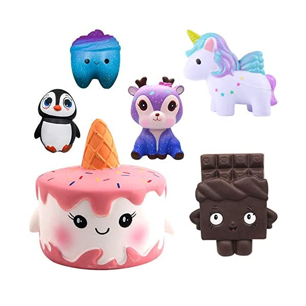 YXJC Fun Toys Squishies, Kawaii Unicorn Cake Squishy, Creamy Aroma Slow Rising Squeeze Toys for Boys and Girls Gifts (Color : 10cm) 5