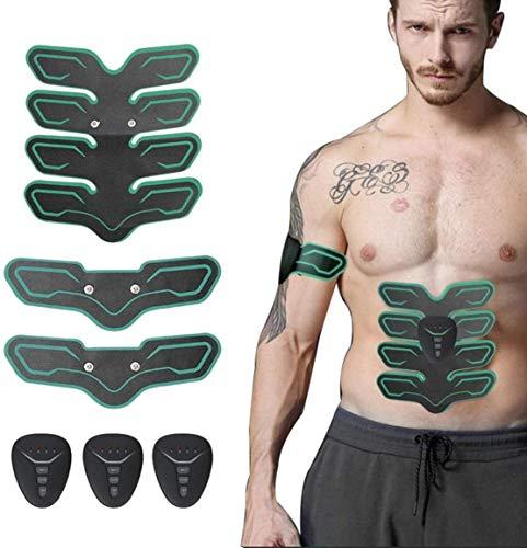 ABS Trainer Abdominal Stimulator, EMS Muskelstimulator mit 6 Modi 9 Levels Fitness Workout für Männer Frauen Bauch-Arm-Bein