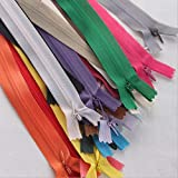 Xuccus Alipress 40cm Invisible Zippers Mix Color 50PCS 3# DIY Nylon Coil Zipper for Sewing Cushion/Back Tailor Tools - (Color: Multi-Colored, Size: 3#)