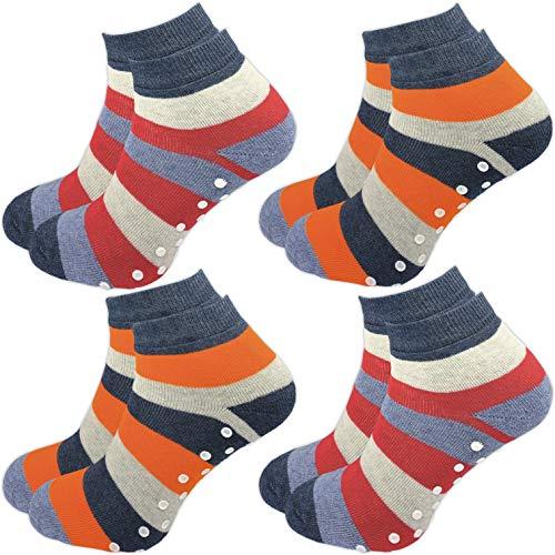 GAWILO 4 Paar Kinder Stoppersocken – ohne drückende Naht – ABS Socken – Turnsocken –...