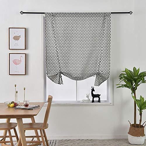 Balloon Shades Window Treatment Valance - Verduisteringsgordijn voor gordijnen voor kleine ramen (Rod Pocket Panel, 46 inch B x 66 inch L)